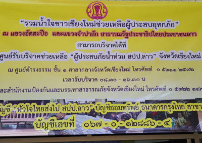 Relief for Flood Victims in Laos